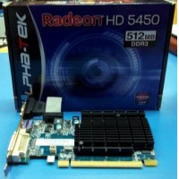 PLACAS DE VIDEOS ALPHA-TEK AMD RADEON HD 5450 512MB DDR3 VGA HDMI DVI