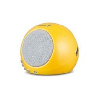 PARLANTES GENIUS SP-I300 CON BATERIA REPRODUCE MP3 AMARILLO