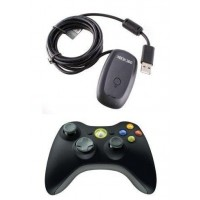ACCESORIOS MICROSOFT GAMEPAD XBOX 360 WIRELESS NUEVO BLACK