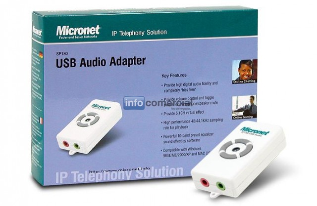 PLACAS DE SONIDO MICRONET USB AUDIO ADAPTER SP180