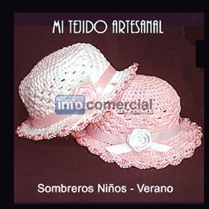 SOMBREROS y GORROS PARA NIÑOS y BEBÉS TEJIDOS AL CROCHET 24c237349ba