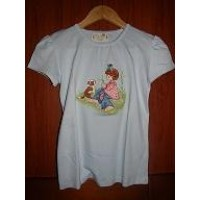T-Shirt 100% pima cotton embroidered or hand painted