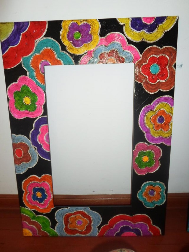 Marcos on pinterest painted picture frames picture for Espejos decorativos alargados