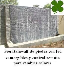 Cascada de agua en piedra para exteriores o interiores for Cascadas de agua para interiores