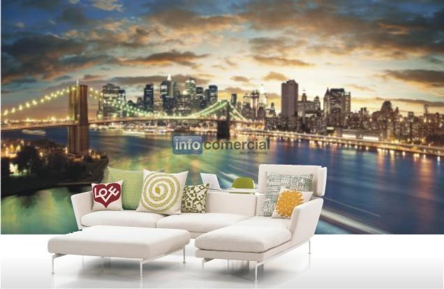 Vinilo decorativo mural impreso fotomural gigantografia - Murales pintados en la pared ...