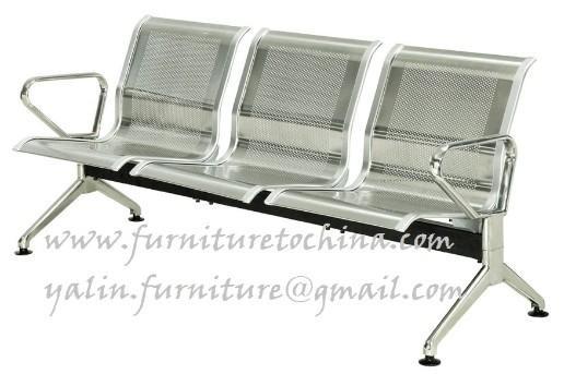 Silla de acero inoxidable de espera asiento recepcin del for Sillas para hospital
