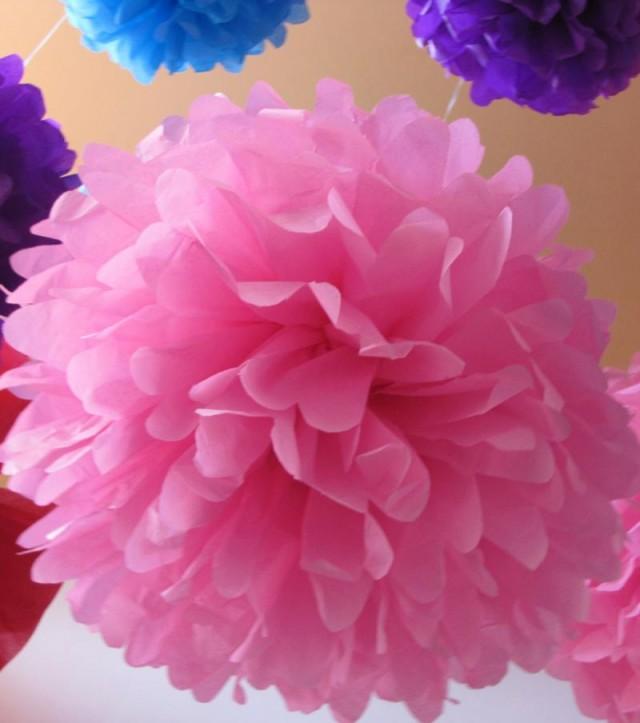 Decoraciones en papel para tus eventos i los pompones - Decoracion con pompones ...