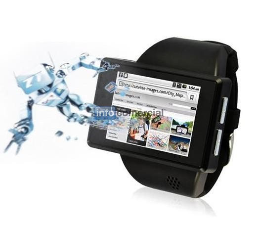 smart android 2.2 phone watch with Android 2.2 OS, WIFI, GPS, G-sensor