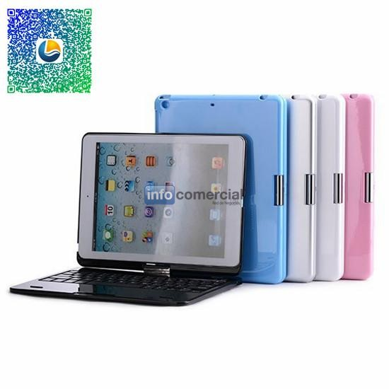 360 Degree Rotating Wireless Bluetooth Keyboard with Stand Case For iPad Air 5