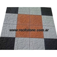 Revestimiento rustico silmil bloque for Baldosones para patio