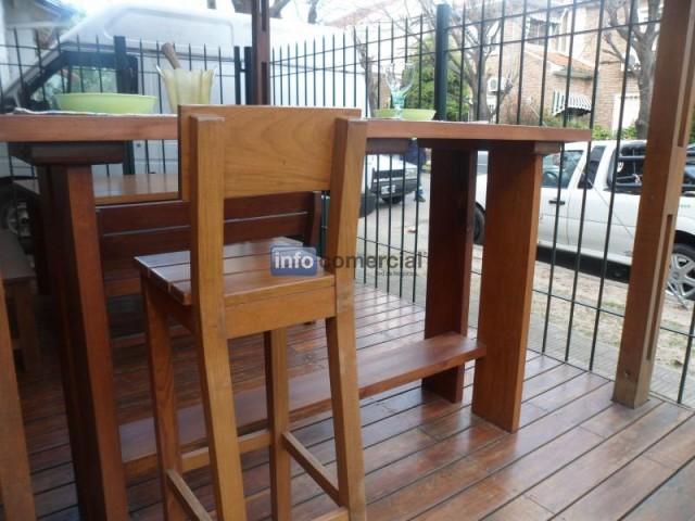 Barras de madera para exterior