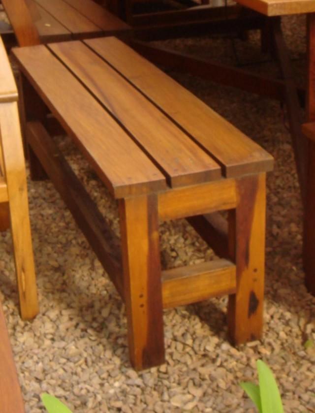 Banco de madera con sin respaldo para exterior coleman - Banco madera exterior ...