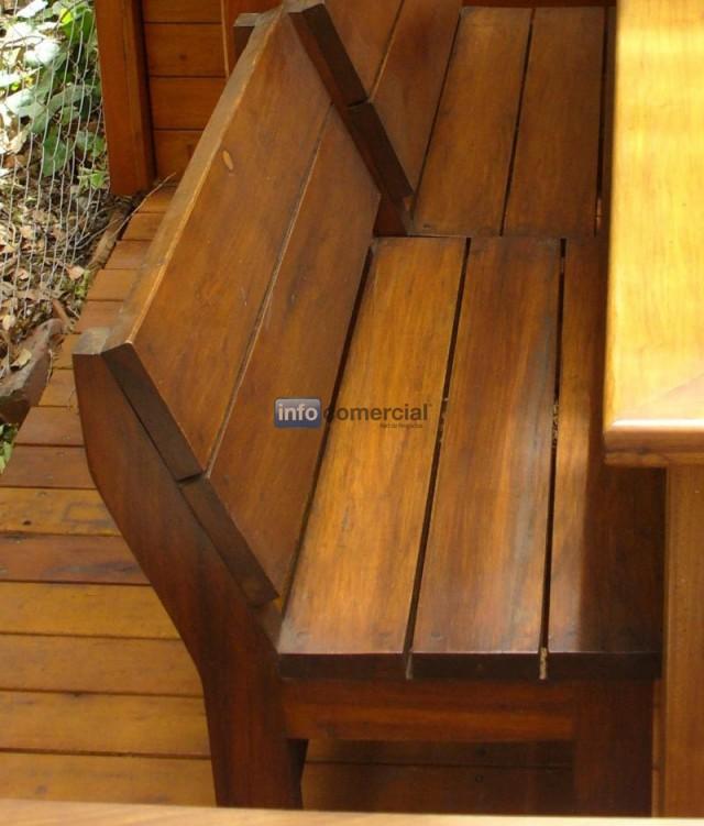 Banco de madera con sin respaldo para exterior coleman - Bancos para exterior ...