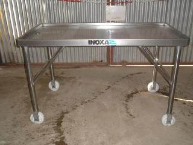 Mesa de trabajo para produccin de quesos - Mesa de trabajo con ruedas ...