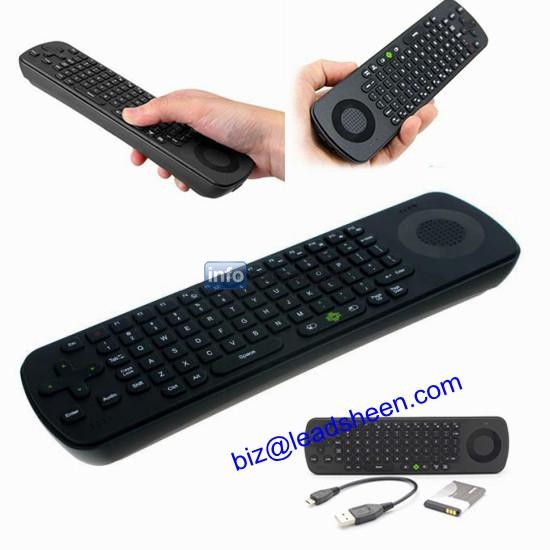 Wireless Air Fly Mouse &QWERTY Keyboard Control for Android TV BOX/PC