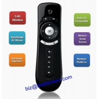 USB 2.4GHz Wireless 6 Axle 3D Gyro Sensing Fly Air Mouse Remote Control for Android TV Box