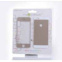 Sell Colorful Tempered Glass Screen Protector with back case for iphone5/5S/5C