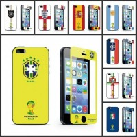 Sell 2014 World Cup Style Tempered Glass Screen Protector For iPhone5/5S/5C