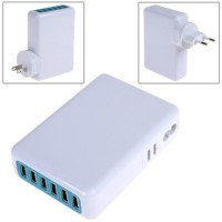 6 USB Charger Ports 5V 6A Wall Charger Power Adapter For iPhone Samsung mobile phone
