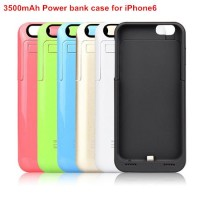 3500mAh Rechargeable External Battery Backup Charger Case Pack Power Bank Case for Apple iPhone6