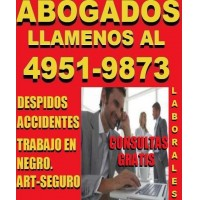ABOGADOS LABORALES POR CAPITAL FEDERAL,DESPIDOS,ACCIDENTES,