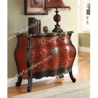 Home Decoration Furniture Corridor Cabinet In Red Color