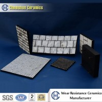 95% Alumina Ceramic Hexagonal Tile of Rubber Ceramic Composite