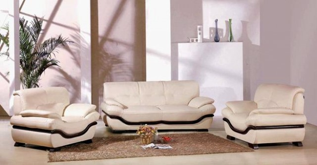 Sof de cuero moderno sof conjunto de sof s tapicer a for Muebles de sala de cuero