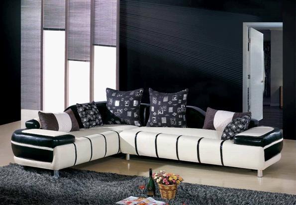 sofá de cuero, sofá moderno, elegante sofá, sofá-cama, sofá L ...