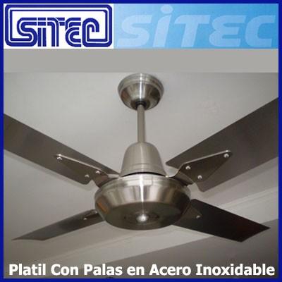 Sitec ventilador de techo platil palas en acero inoxidable - Motores de ventiladores de techo ...
