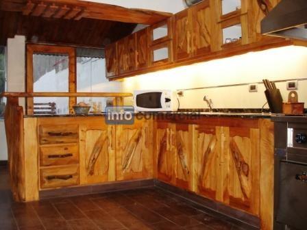 Bajo mesadas - Muebles cocina rusticos madera ...