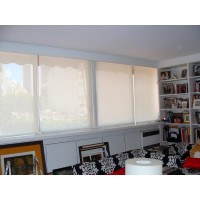 Cortina roller de screen sun blanco