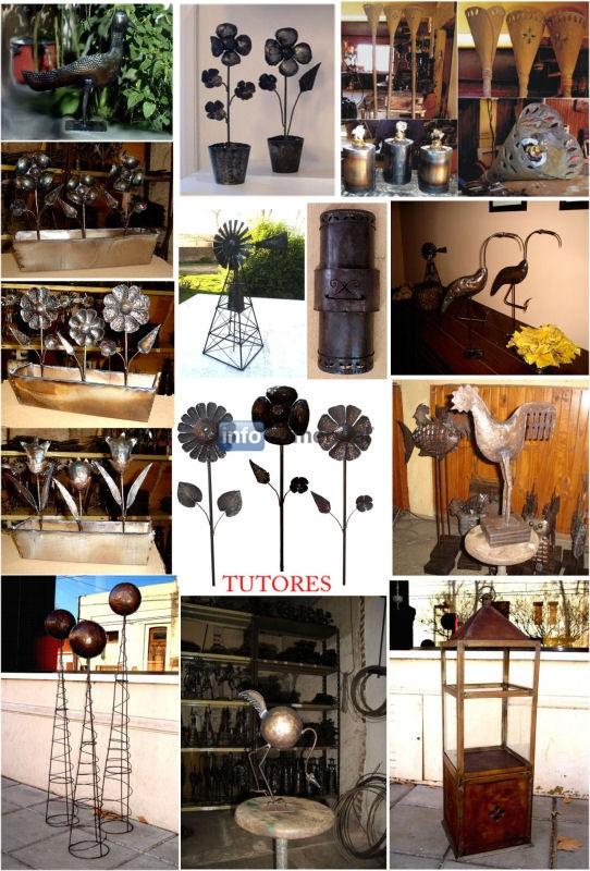 Adornos para parquies y jardines for Adornos pared metal