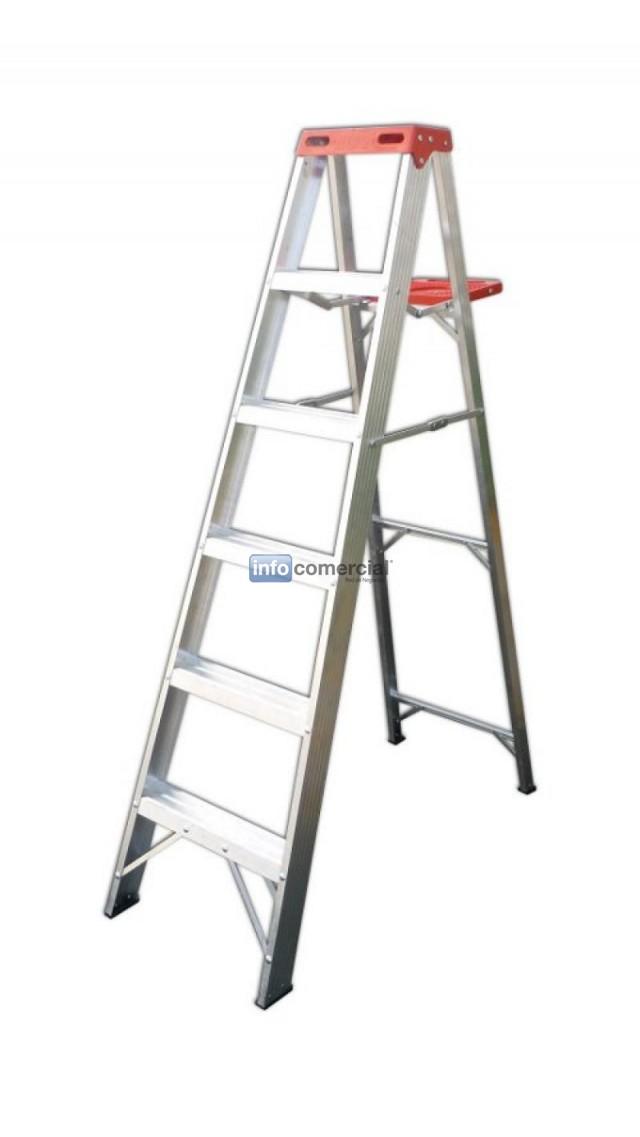 Escaleras de aluminio for Precio de escalera extensible de aluminio