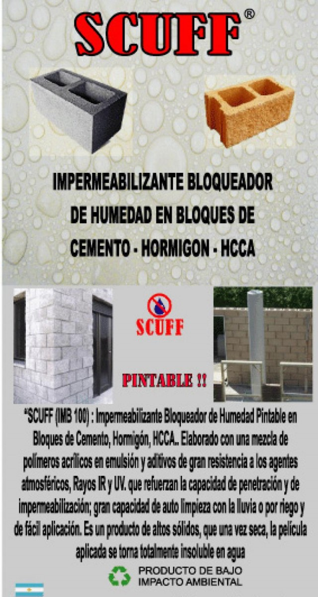 Bloque de cemento impermeabilizante for Baldosones de cemento