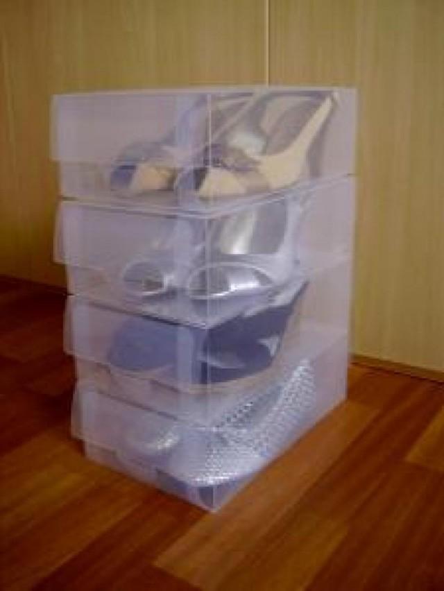 Casas cocinas mueble cajas para guardar zapatos - Cajas transparentes para zapatos ...