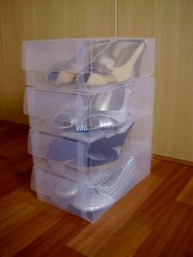 cajas para zapatos transparentes